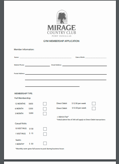 Membership Agreement Template Free Inspirational 10 Gym Membership Contract Templates Sample Example