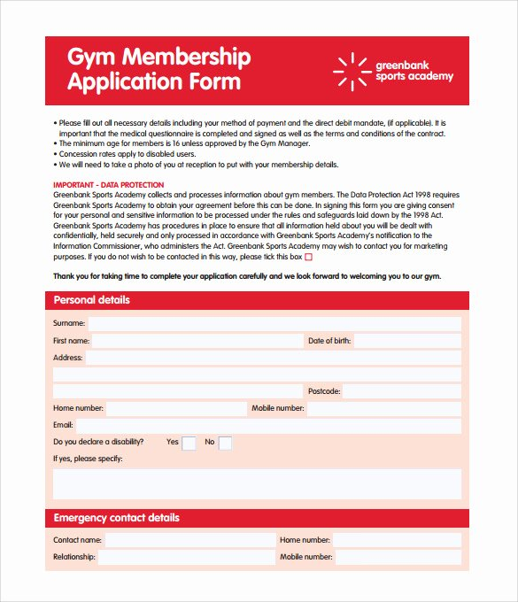 Membership Agreement Template Free Luxury 11 Gym Contract Templates Pages Word Docs