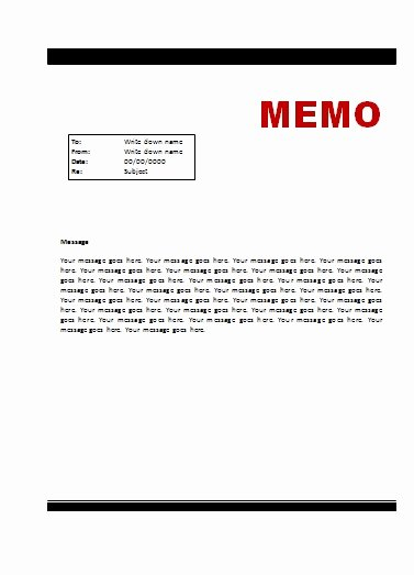 Memo Template for Word Awesome Memo Template
