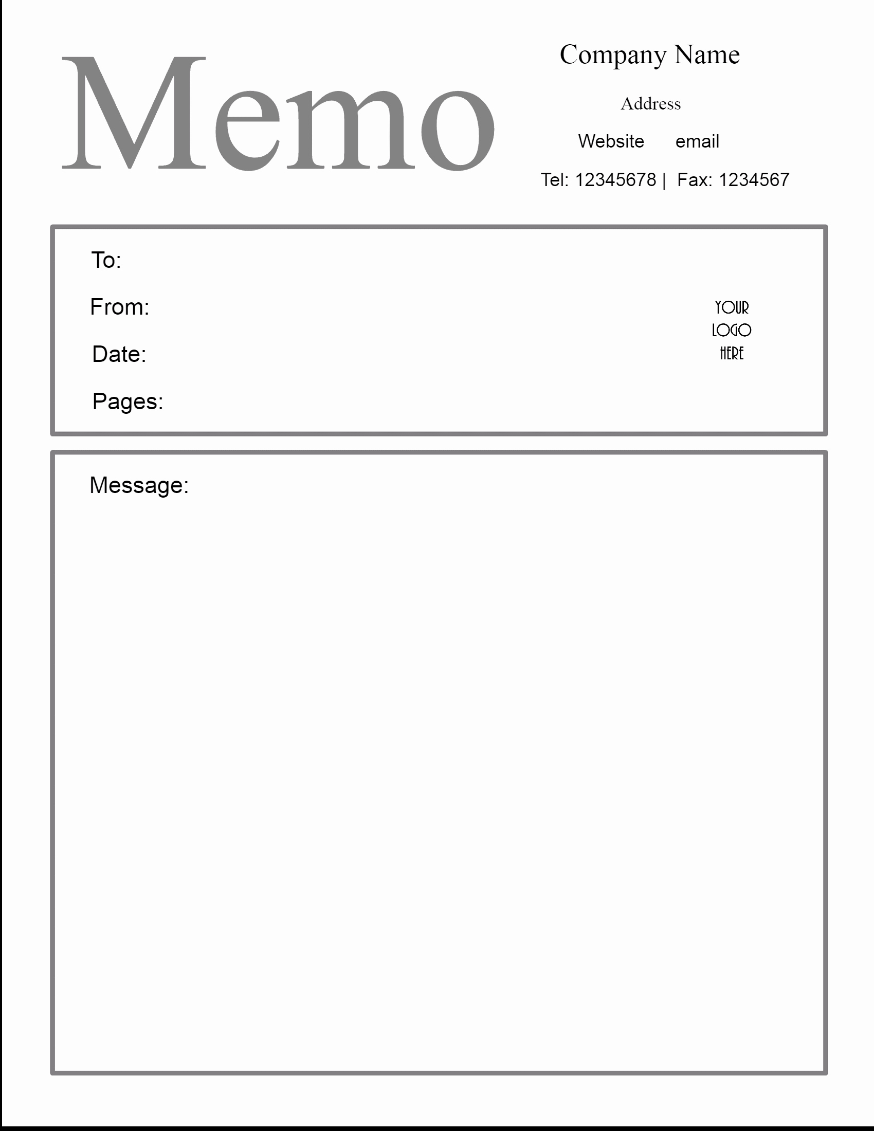 Memo Template for Word Lovely Free Microsoft Word Memo Template