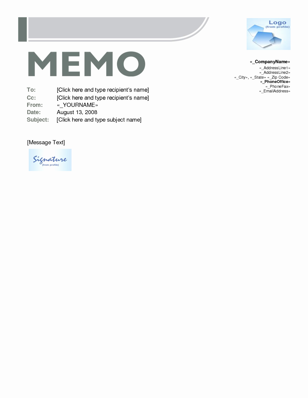 Memo Template for Word Lovely Memo Template Word