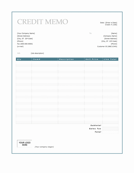Memo Template for Word Luxury Credit Memo Template Microsoft Word Templates