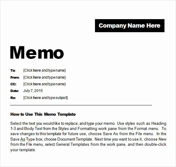 Memo Template for Word Luxury Sample Confidential Memo 8 Documents In Pdf Word