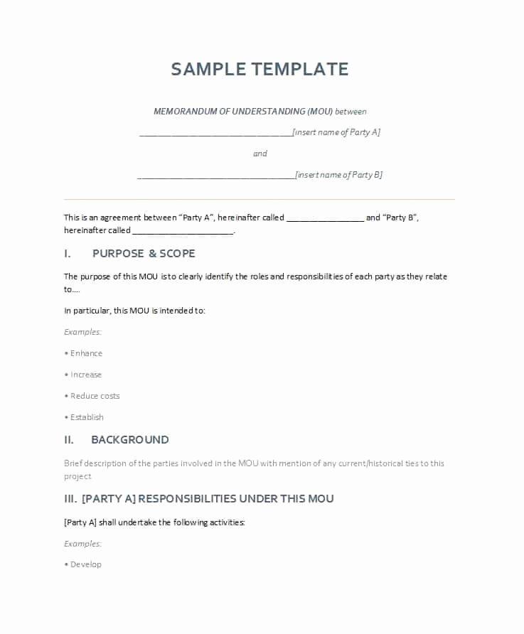 Memo Template for Word Unique 50 Free Memorandum Of Understanding Templates [word]