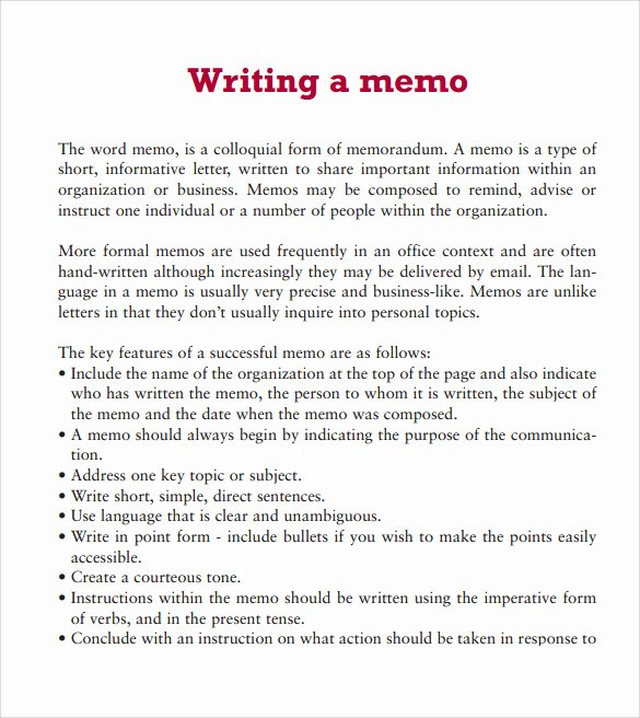 Memo Template for Word Unique Sample Word Memo 5 Documents In Pdf