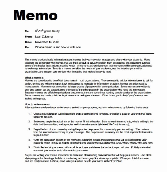 Memorandum Templates for Word Beautiful 7 Memo Templates Excel Pdf formats
