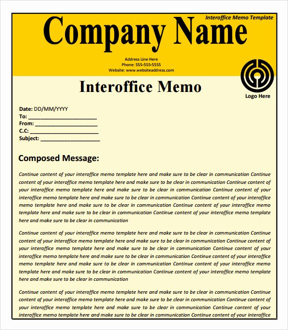Memorandum Templates for Word Best Of Sample Confidential Memo 8 Documents In Pdf Word