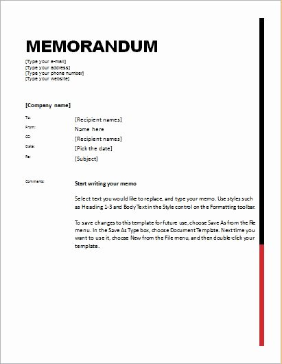 Memorandum Templates for Word Elegant 24 Free Editable Memo Templates for Ms Word