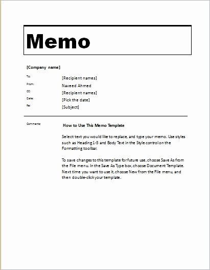 Memorandum Templates for Word Fresh 24 Free Editable Memo Templates for Ms Word
