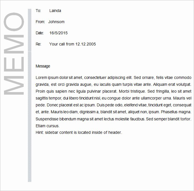 Memorandum Templates for Word Fresh Business Memo Template 22 Word Pdf Google Docs