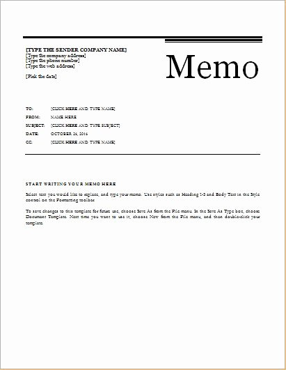Memorandum Templates for Word Luxury 24 Free Editable Memo Templates for Ms Word