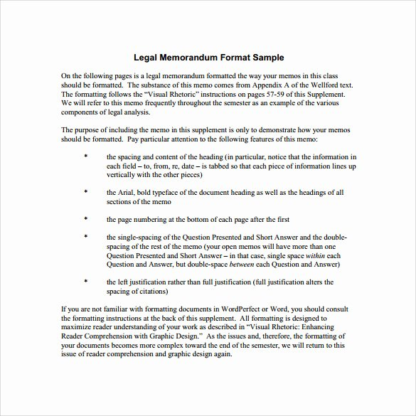 Memorandum Templates for Word Luxury Sample Legal Memo Template 11 Documents In Pdf Google