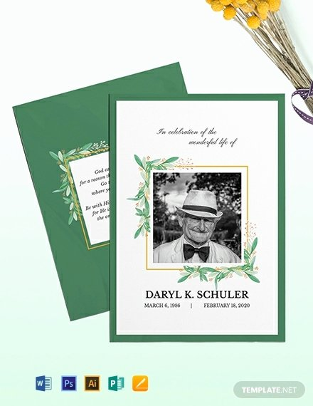 Memorial Card Template Free Awesome Free Funeral Memorial Card Template Download 720 Cards