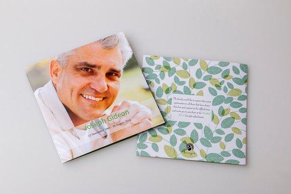 Memorial Card Template Free Elegant Memorial Card Template Square Booklet