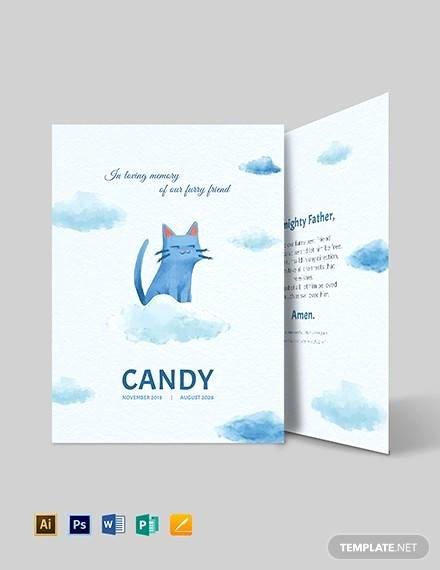 Memorial Card Template Free Fresh 11 Memorial Card Templates Ai Psd Word