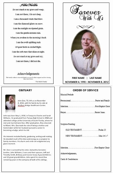 Memorial Card Template Free Lovely 1000 Images About Printable Funeral Program Templates On