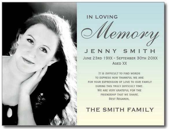 Memorial Card Template Free Lovely Blank Funeral Prayer Card Template