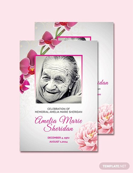 Memorial Card Template Free Luxury 15 Funeral Card Templates Psd Ai Eps