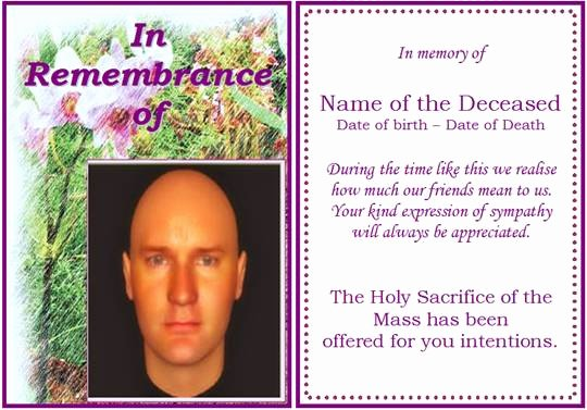 Memorial Card Template Free Luxury 6 Free Funeral Program Templates Microsoft Word Website