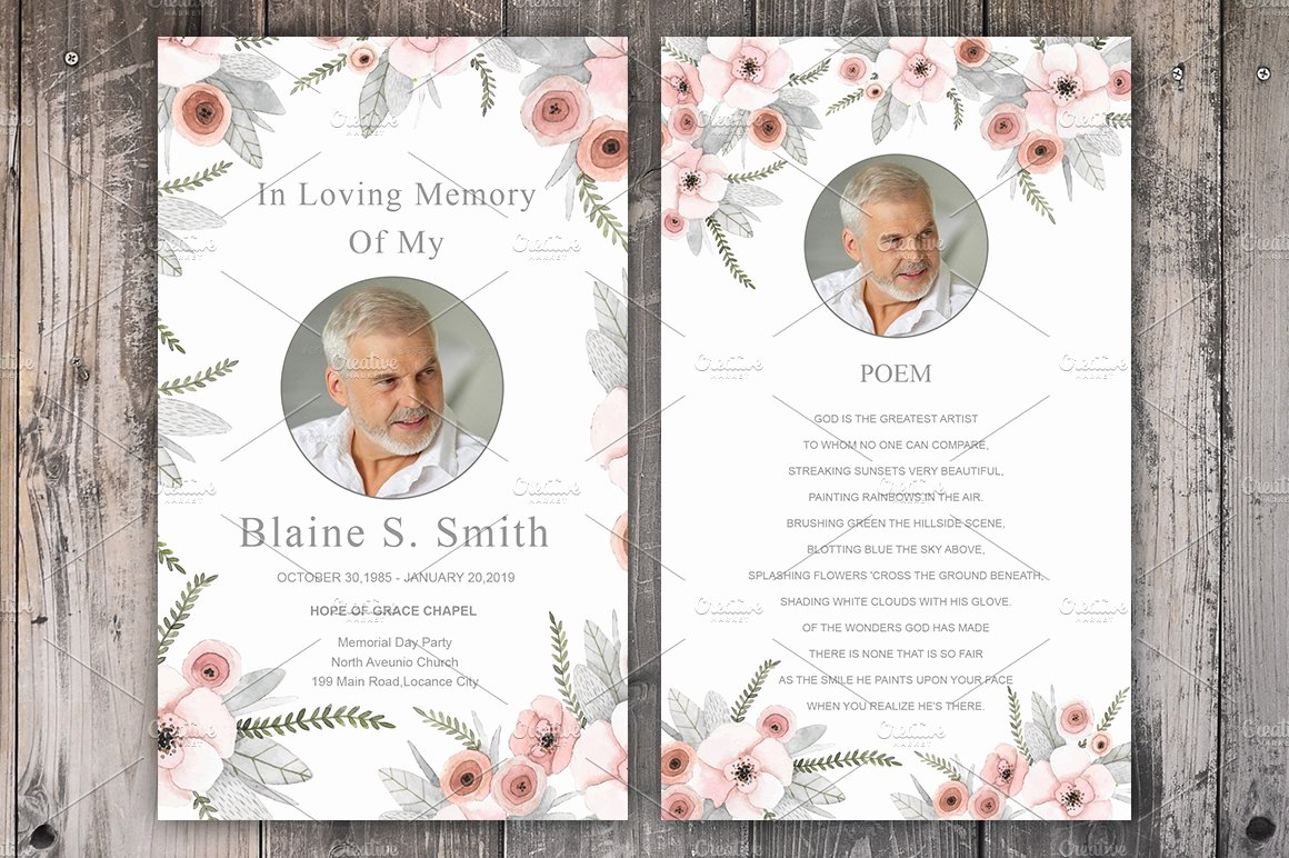 Memorial Cards Templates Free Awesome Funeral Prayer Card Template Card Templates Creative