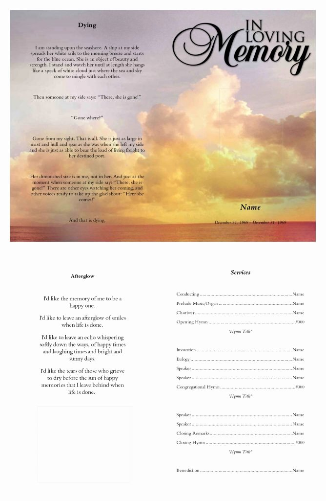Memorial Cards Templates Free Lovely Preview Funeral Templates