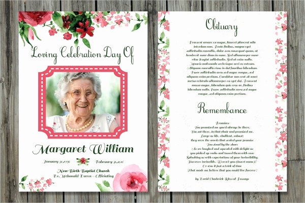 Memorial Cards Templates Free Luxury 17 Funeral Card Templates Psd Ai