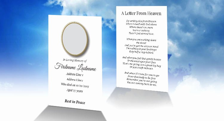 Memorial Cards Templates Free Luxury Free Wallet Memorial Card Template In Indesign format