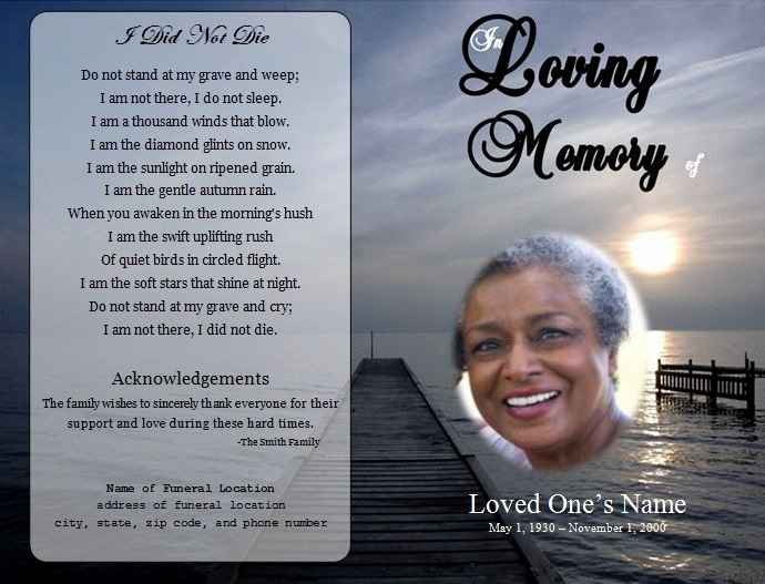 Memorial Cards Templates Free New 73 Best Images About Printable Funeral Program Templates
