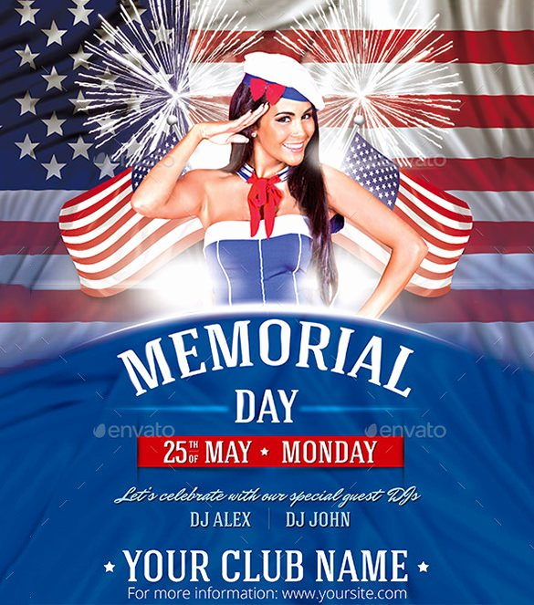 Memorial Day Flyer Template Free Awesome 12 Memorial Day Psd Flyer Templates & Designs