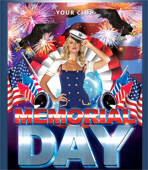 Memorial Day Flyer Template Free Beautiful 20 Memorial Day Flyers Psd Vector Eps format Download