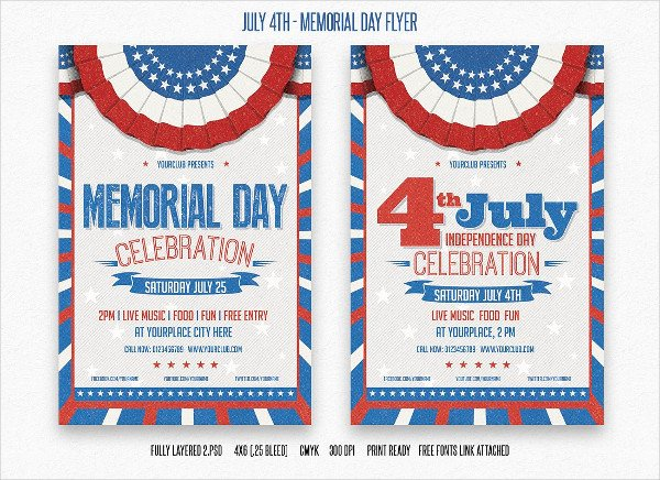 Memorial Day Flyer Template Free Beautiful 21 Memorial Day Flyer Free Psd Eps Illustrator format