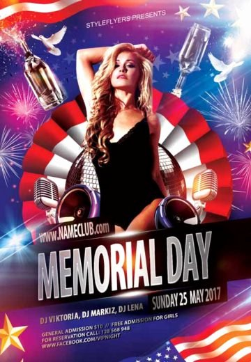Memorial Day Flyer Template Free Beautiful Download Free Memorial Day Flyer Psd Templates for Shop