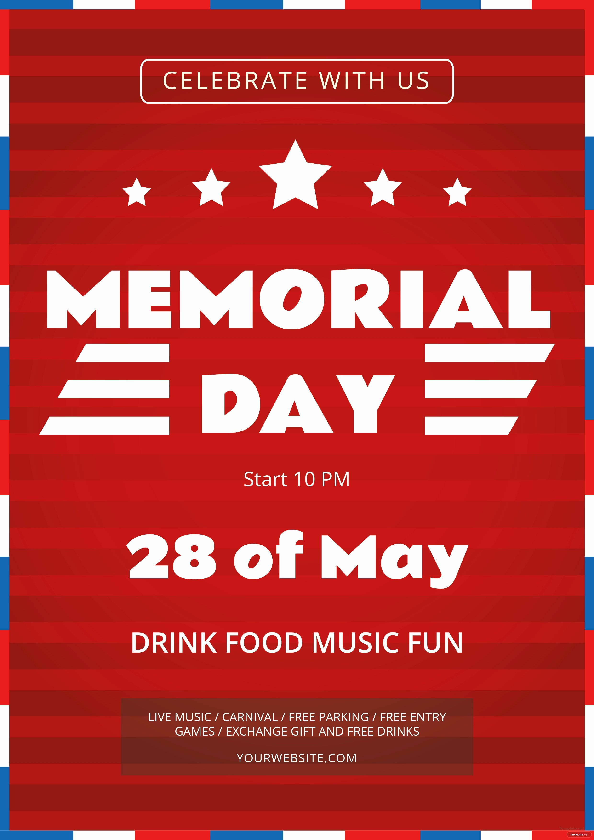 Memorial Day Flyer Template Free Best Of Free Memorial Day Flyer Template In Adobe Illustrator