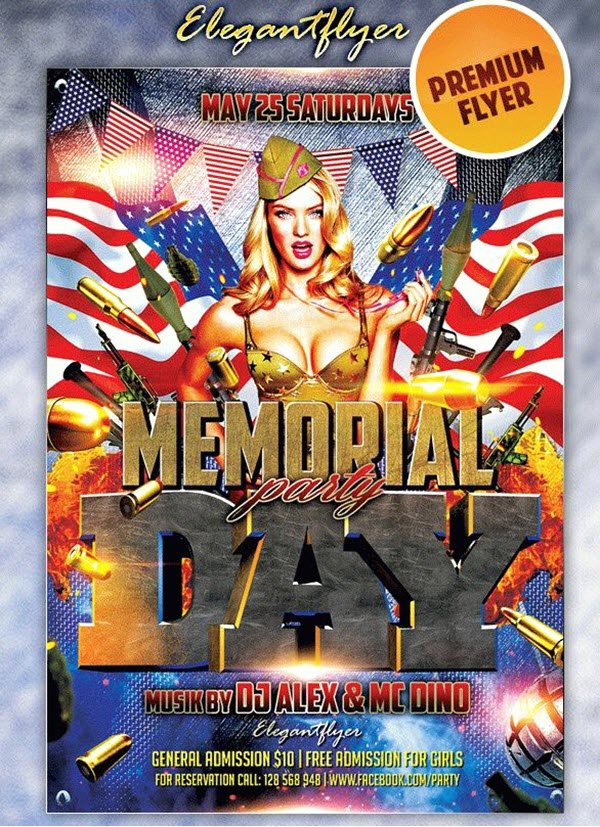 Memorial Day Flyer Template Free Elegant 20 Memorial Day Free and Premium Psd Flyer Print Templates