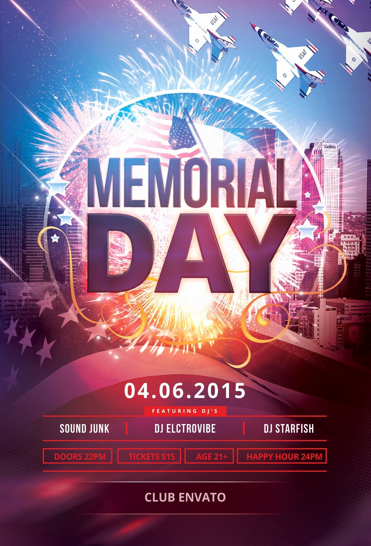 Memorial Day Flyer Template Free Elegant Memorial Day Flyer Template Download Psd File $6