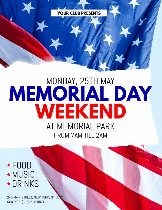 Memorial Day Flyer Template Free Elegant Memorial Day Weekend Flyer Template
