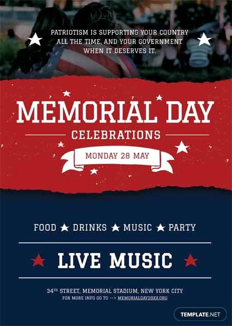 Memorial Day Flyer Template Free Inspirational Free Memorial Day Bbq Flyer Template In Adobe Shop