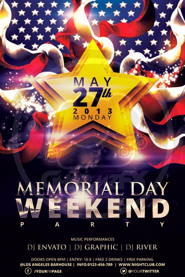 Memorial Day Flyer Template Free Inspirational Memorial Day Flyer Template by Koza30 On Deviantart