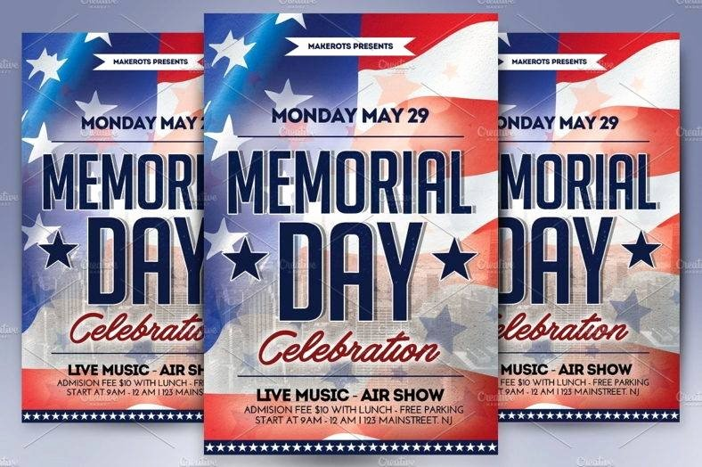 Memorial Day Flyer Template Free Lovely 17 Memorial Day Templates