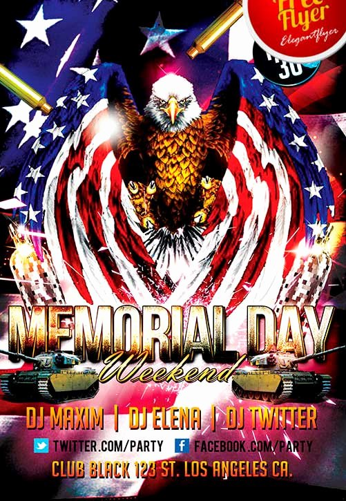 Memorial Day Flyer Template Free Lovely Free Memorial Day Weekend Party Flyer Template