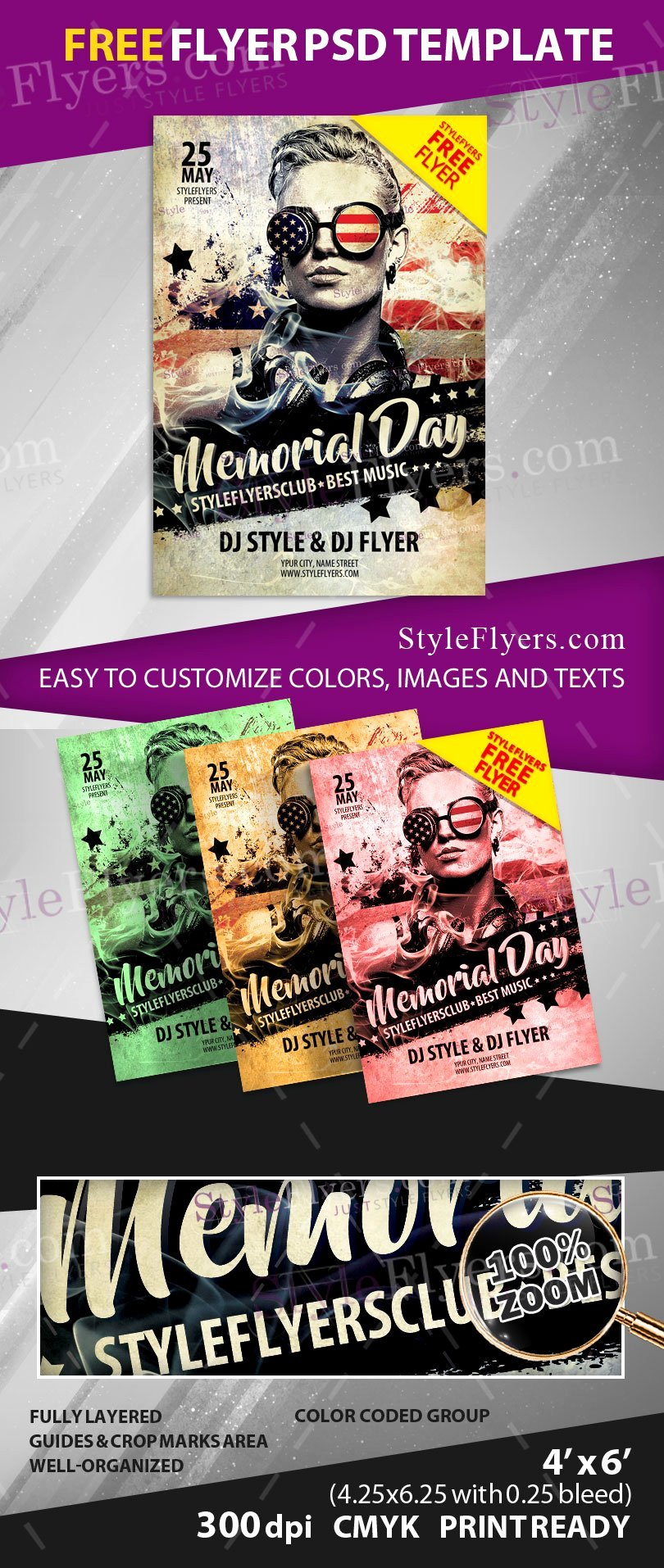 Memorial Day Flyer Template Free Lovely Memorial Day Free Psd Flyer Template Free Download