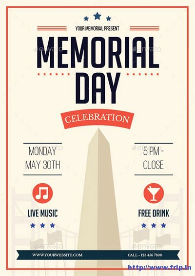 Memorial Day Flyer Template Free Unique 20 Best Memorial Day Flyer Print Templates 2018