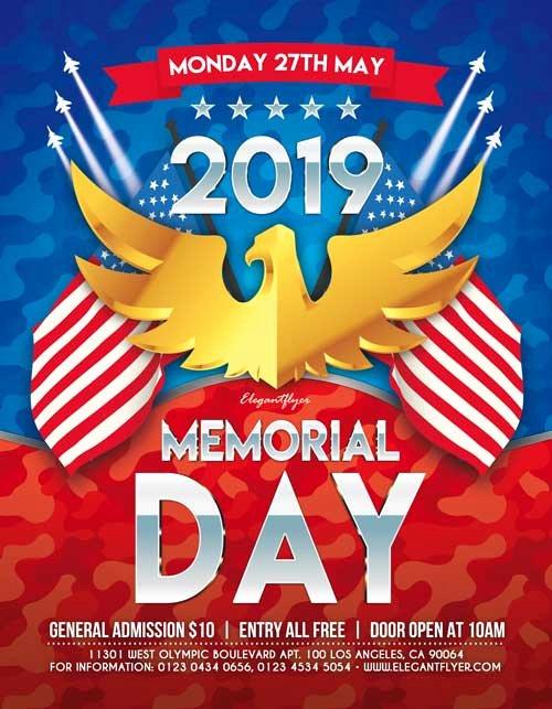 Memorial Day Flyer Template Free Unique Memorial Day 2019 Free Party Flyer Template Freebie