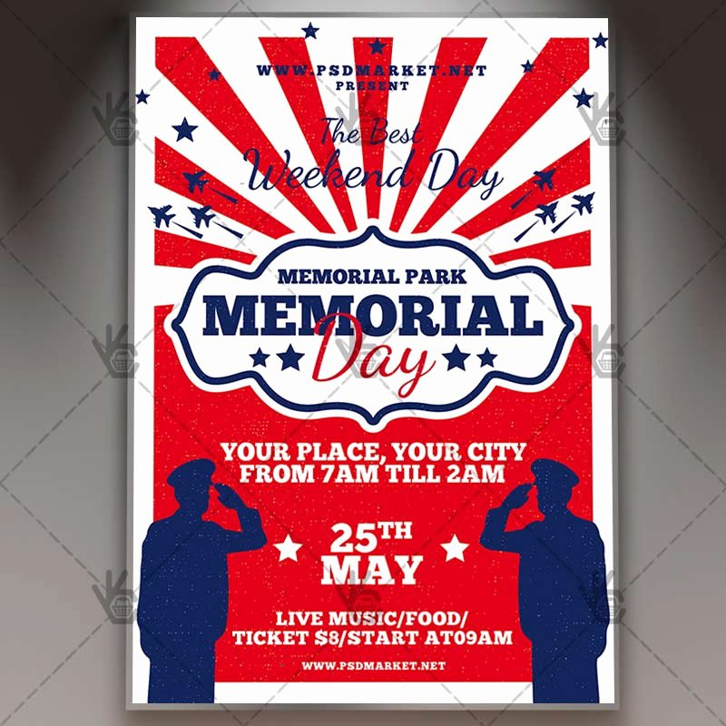 Memorial Day Flyer Template Free Unique Memorial Day Bbq Flyer Psd Template