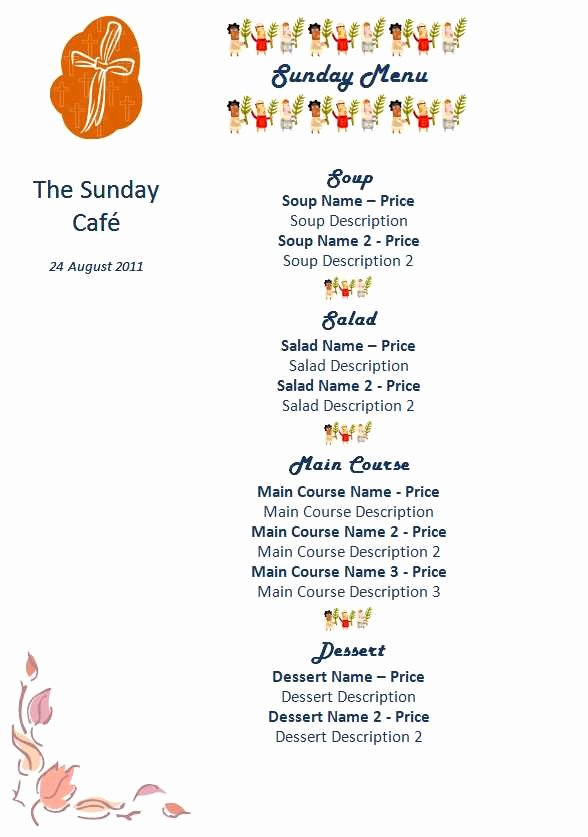 Menu Template Free Word Best Of 15 Free Restaurant and Cafe Menu Templates for Word