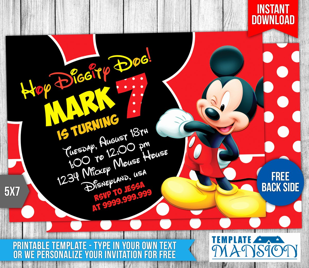 Mickey Mouse Birthday Invitation Template Best Of Mickey Mouse Birthday Invitation 4 by Templatemansion On