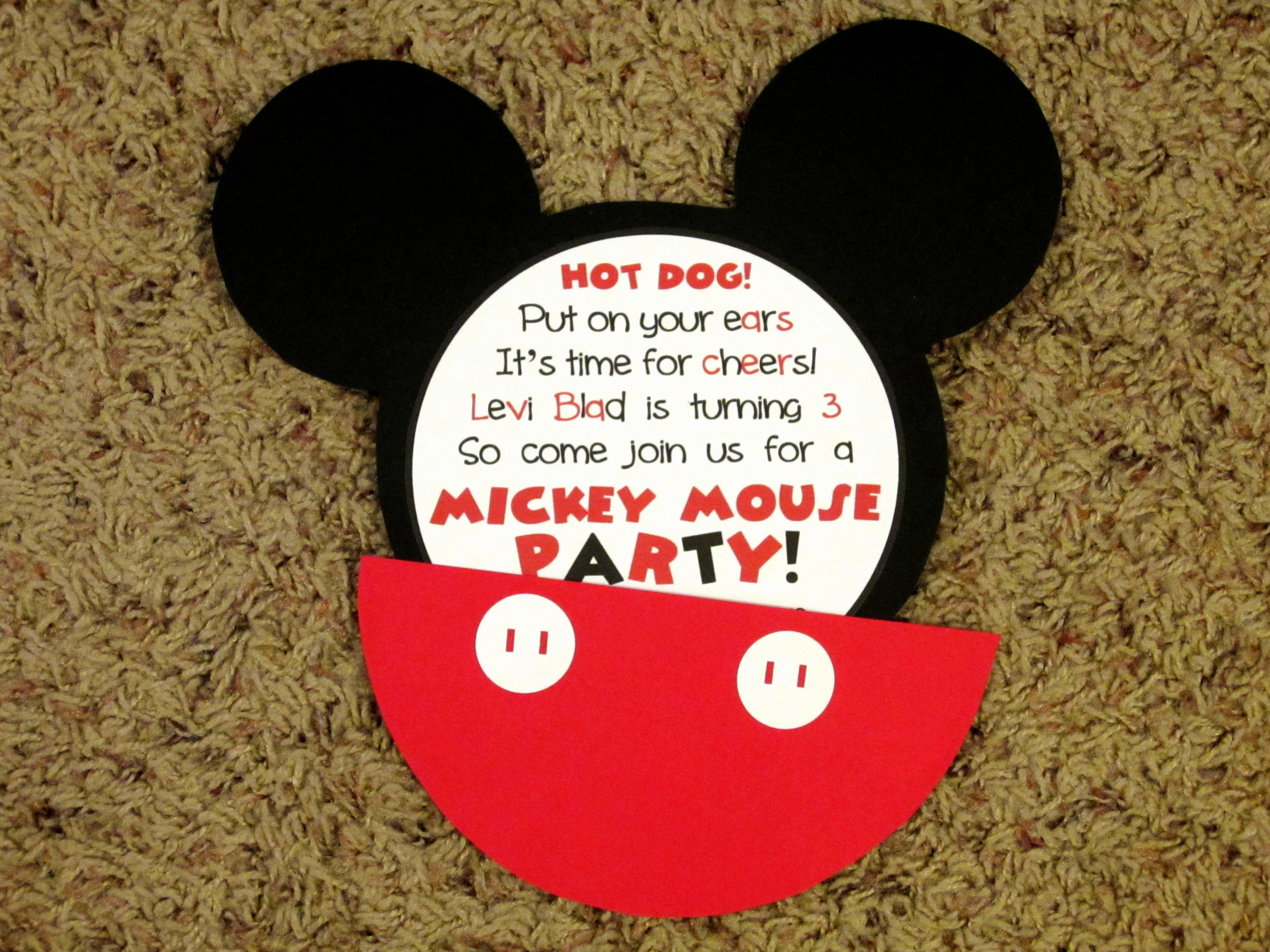 Mickey Mouse Birthday Invitation Template Elegant Mickey Mouse Invitations Love to Be In the Kitchen