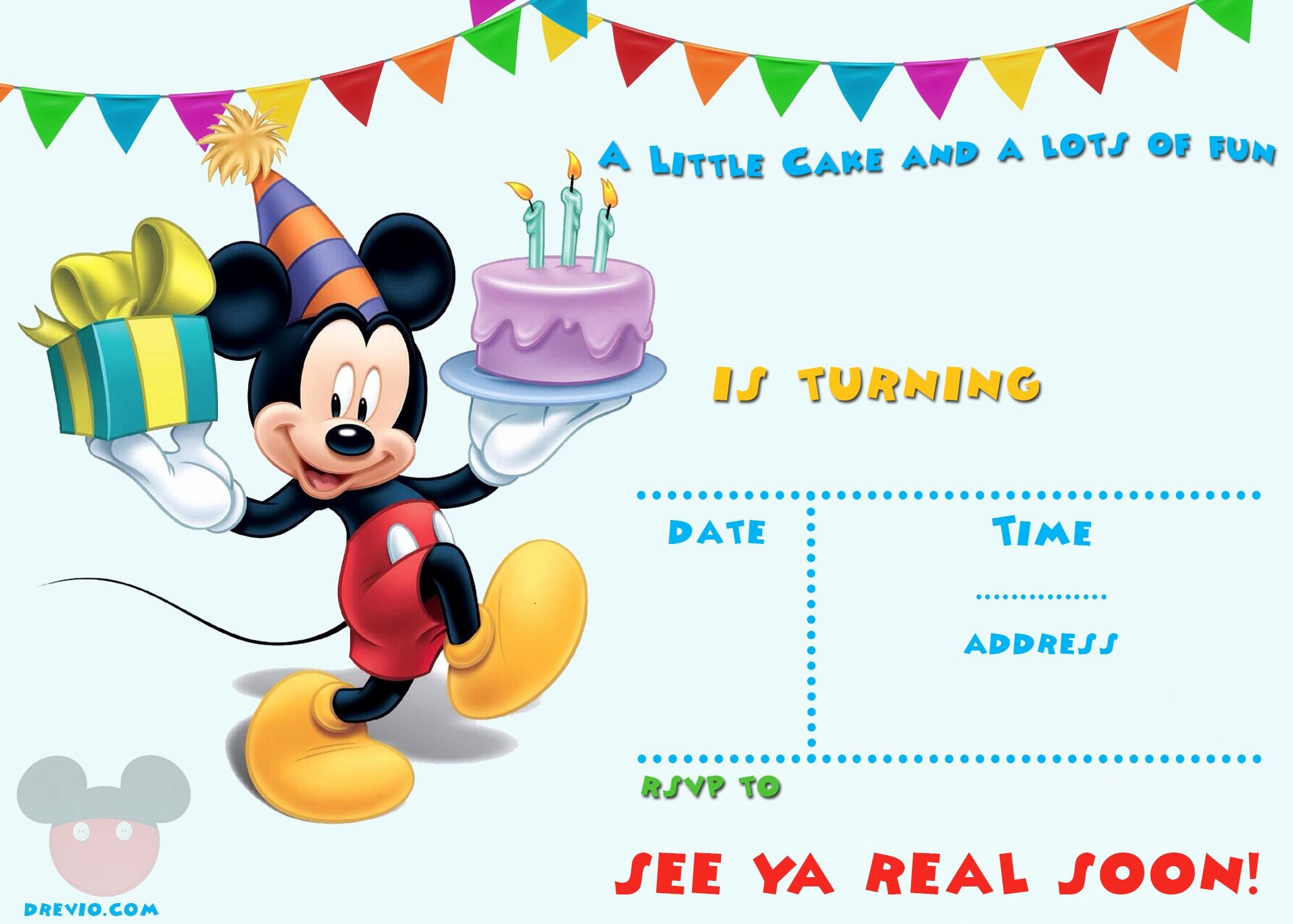 Mickey Mouse Birthday Invitation Template Inspirational Free Printable Mickey Mouse Invitations Exclusive