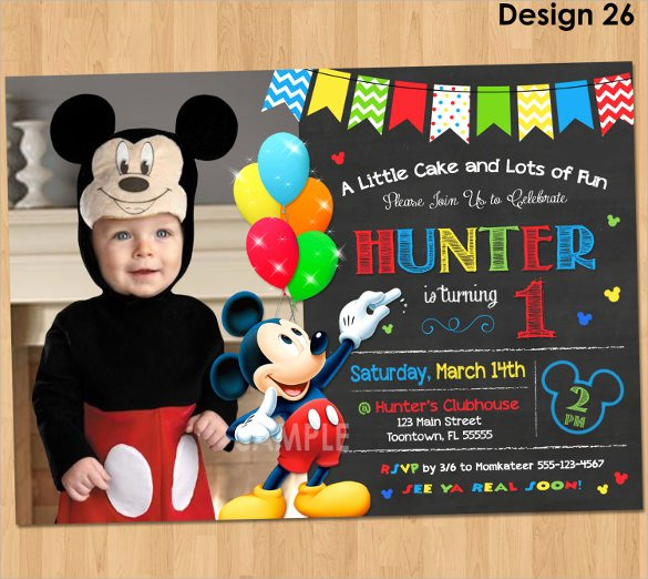 Mickey Mouse Birthday Invitation Template Inspirational Sample Mickey Mouse Invitation Template 13 Download
