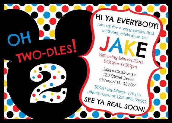 Mickey Mouse Birthday Invitation Template Lovely Free Printable Mickey Mouse Clubhouse Birthday Invitations